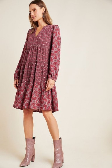 Maeve Amber Tiered Tunic Wine