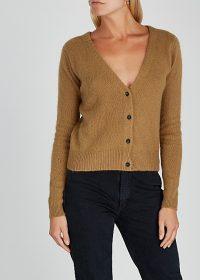 AMERICAN VINTAGE Gogojet brown knitted cardigan ~ V-neck cardi