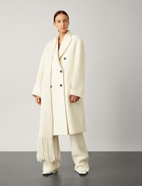 Joseph Arles Wool Alpaca Coat in Cream | luxe outerwear | contemporary winter coats