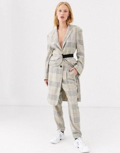 ASOS DESIGN premium check suit with bumbag / trouser suits - flipped