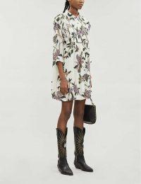 BA&SH Paprika floral-print woven maxi dress in ecru