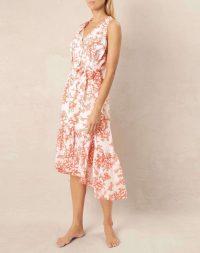 heidi klein Belize Frill Midi Dress – ruffled beach dresses – poolside fashion