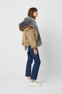 French Connection BLAIRE FAUX FUR HOODED COAT ~ furry winter jackets