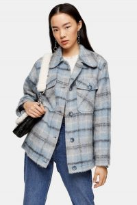 TOPSHOP Blue Check Jacket