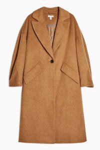 Topshop Camel Slouchy Coat | light-brown Fall coats