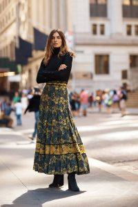 Carolina K Midnight Maxi Skirt Carbon