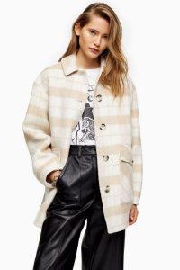 Topshop Check Shacket | neutral autumn jackets