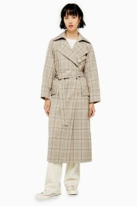 TOPSHOP Check Trench / belted coats