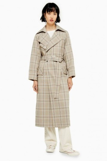 TOPSHOP Check Trench / belted coats - flipped