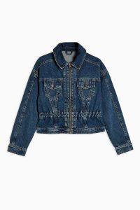 TOPSHOP CONSIDERED Authentic Wash Peplum Denim Jacket