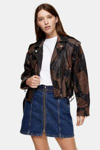 TOPSHOP CONSIDERED Black Patch Jacket – patchwork jackets