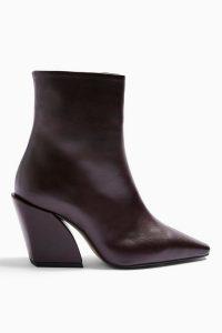 CONSIDERED VALENCIA Vegan Burgundy Boots / Topshop footwear