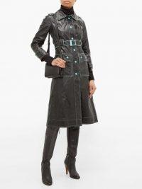 Courrèges 1960s black vinyl trench coat | sixties vintage fashion