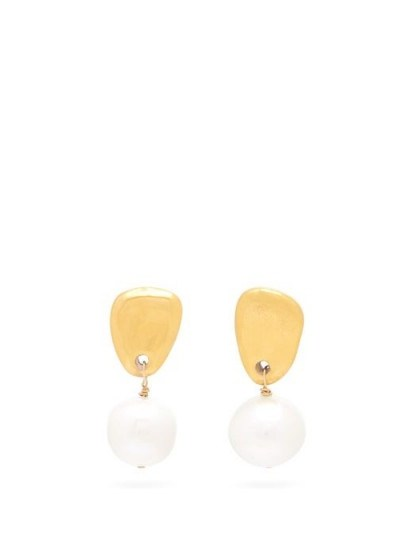 SONIA BOYAJIAN Cynthia freshwater-pearl drop earrings ~ large drops ~ pearls - flipped