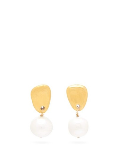 SONIA BOYAJIAN Cynthia freshwater-pearl drop earrings ~ large drops ~ pearls