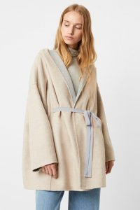 French Connection DARALICIA WOOL HOODED JACKET Oatmeal / Light grey
