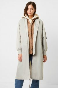 French Connection DIA NYLON 3 WAY COAT Stone Grey / Camel ~ winter coats with removable gilets