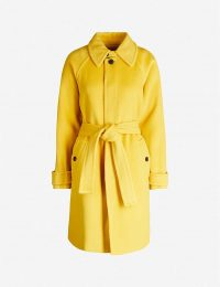 DIANE VON FURSTENBERG Lia belted wool coat in couch – yellow winter coats