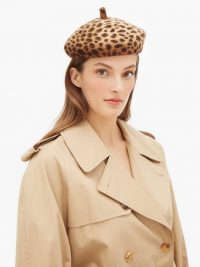 LOLA HATS Frenchy leopard-print felt beret ~ French style berets
