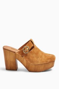 TOPSHOP GENOA Mule Clogs Tan / light-brown chunky mules