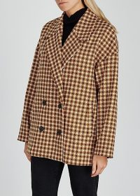 GESTUZ Moniquegz houndstooth-weave jacket / oversized, drop shoulder jackets