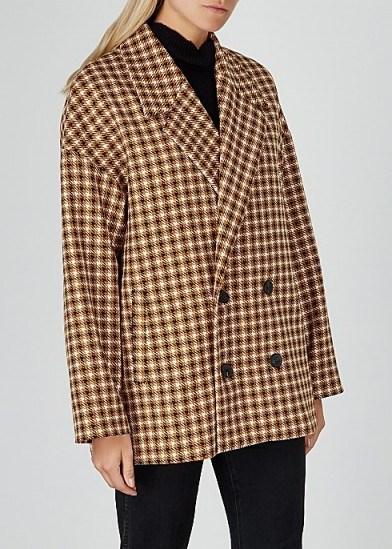 GESTUZ Moniquegz houndstooth-weave jacket / oversized, drop shoulder jackets - flipped