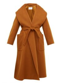 MAX MARA Gufo brown wide lapel coat