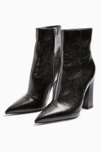 TOPSHOP HARRI Point Boots Black