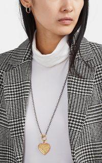 ILEANA MAKRI Touch Heart Pendant Necklace – long necklaces – pendants – gold hearts