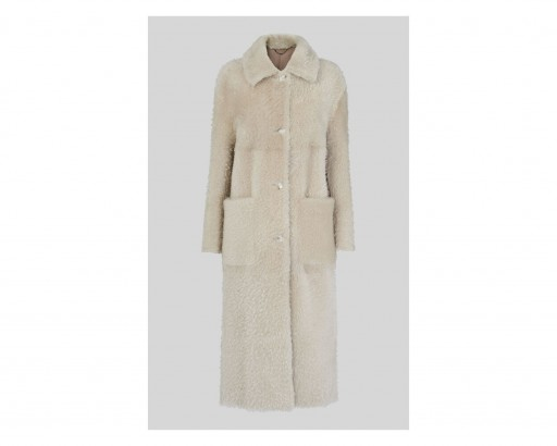 WHISTLES Erika Shearling Coat ~ textured winter coats