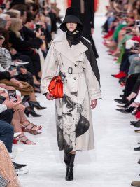 VALENTINO Lovers-print cotton-gabardine trench coat beige ~ designer coats