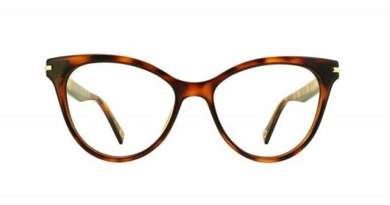 Glasses Direct Marc 227 by Marc Jacobs in Black/Havana – retro cat eye shape
