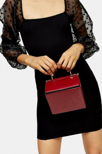 Topshop MEG Red Boxy Cross Body Bag | small box bags