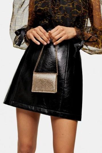 Topshop MONTANA Mini Gold Bag   small evening bags - flipped