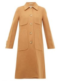 ACNE STUDIOS Orein single-breasted double-faced wool coat ~ tan winter coats