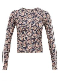 THE UPSIDE Paisley-print rash guard in navy / sporty poolside fashion