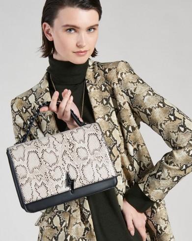 Pauls Boutique TATIANA TOP HANDLE BAG in SNAKE / BEIGE