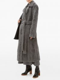 GABRIELA HEARST Pavlovna wool-blend coat in grey ~ luxe winter coats