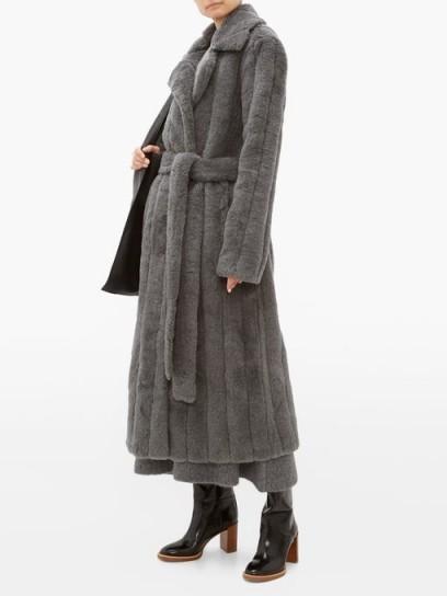 GABRIELA HEARST Pavlovna wool-blend coat in grey ~ luxe winter coats
