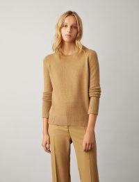 Joseph Pure Cashmere Knit in Camel | classic knitwear | winter wardrobe staple