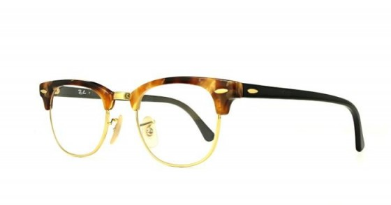Glasses Direct Ray-Ban Clubmaster 5154-49 in Brown Havana – classic vintage style