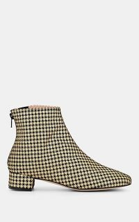 REPETTO Jolaine Houndstooth Ankle Boots in gold/black – metallic dogtooth booties