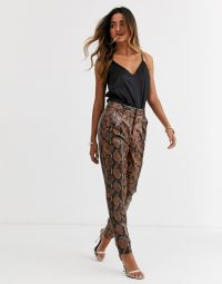 Ronny Kobo olivia pleather python trousers – faux leather pants