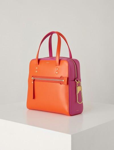 Joseph Leather Ryder 25 Bag in Carnelian | luxe colourblock handbag