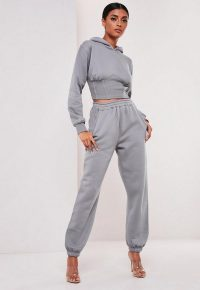 sofia richie x missguided grey oversized 90s joggers | vintage look leisure wear