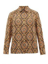 A.P.C. Sutton paisley-print silk shirt / vintage style prints