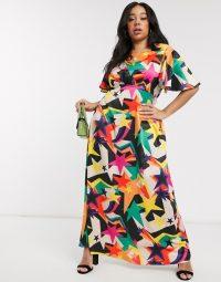 Twisted Wunder Plus tea midaxi dress in retro star print | vintage style prints