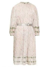 ISABEL MARANT ÉTOILE Vanille floral-print pintuck pleated dress in pink