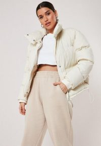 MISSGUIDED white puffer jacket – on-trend padded winter jackets