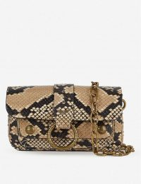 ZADIG&VOLTAIRE Kate Wild Wallet snakeskin-print cross-body bag in Desert